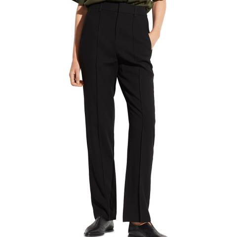 Vince Black Wool Blend Tailored Trousers