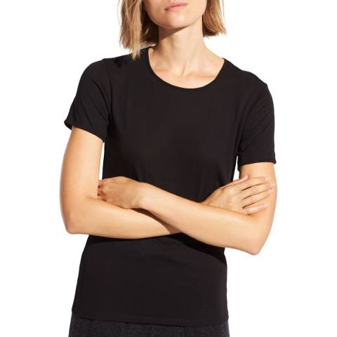 Vince Black Short Sleeve Cotton T-Shirt