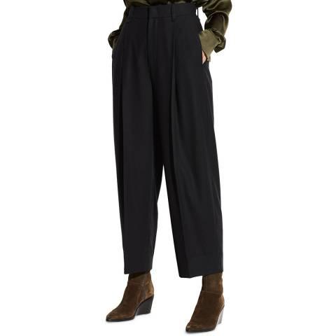 Vince Black Plefront Crop Trousers