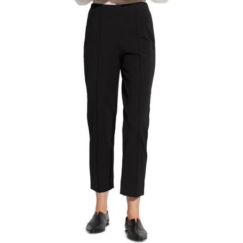 Vince Black Pintuck Stretch Trousers