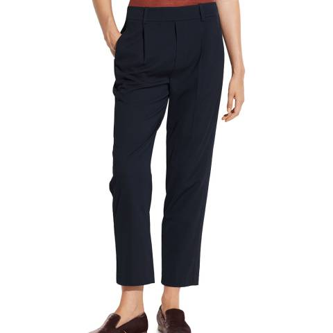 Vince Navy Side Strap Pull On Trousers