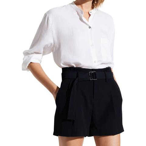 Vince Navy Mini Belted Shorts