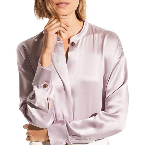 Vince Orchid Long Sleeve Silk Blouse