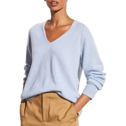 Vince Powder Blue Wool Blend Marled Jumper