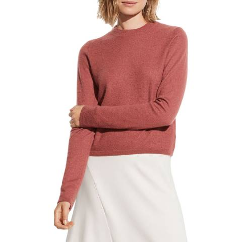Vince Rosewood Cashmere Fitted Crew Jumper