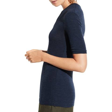 Vince Navy Wool Crew Neck Top