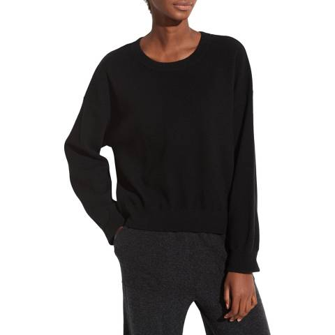 Vince Black Cashmere Layer Crew Jumper