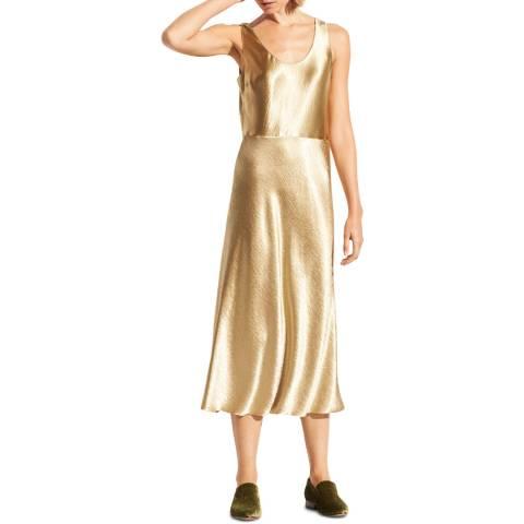 Vince Pale Golf Metallic Tank Dress