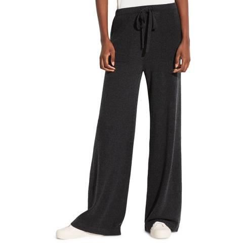 Vince Carbon Cashmere/Wool Blend Wide Leg Trousers