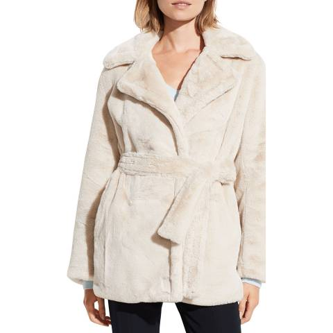 Vince Pearl Belted Plush Coat