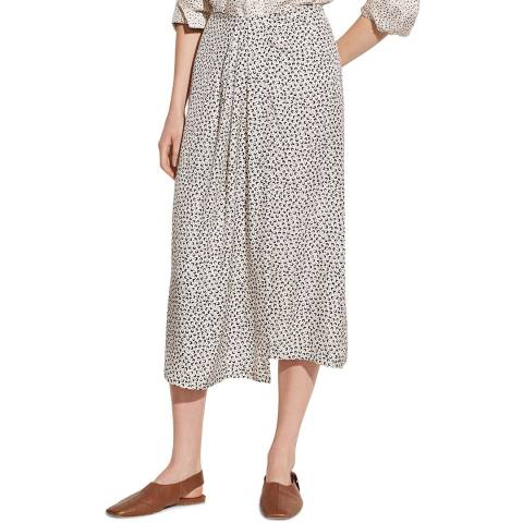 Vince Ivory Star Dot Silk Blend Skirt