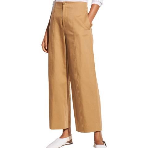 Vince Beige High Waist Utility Trousers