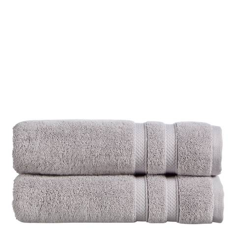 Christy Chroma Pack of 6 Face Cloths, Dove Grey