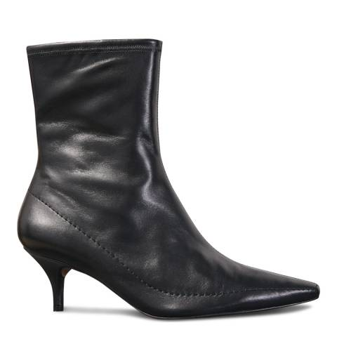 Jigsaw Black Charly Leather Ankle Boots