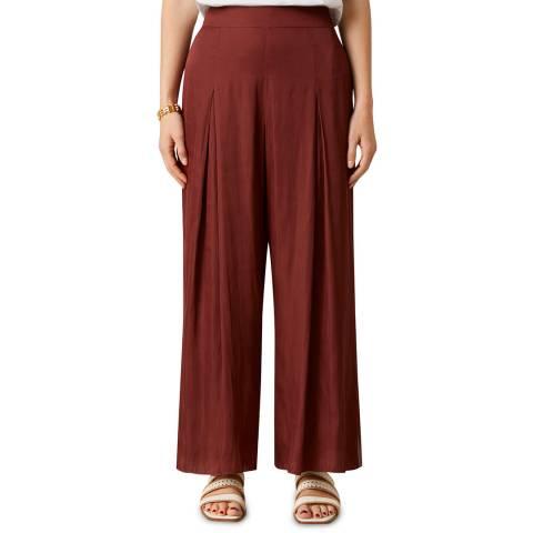Jigsaw Rust Crocus Drape Pleat Trousers