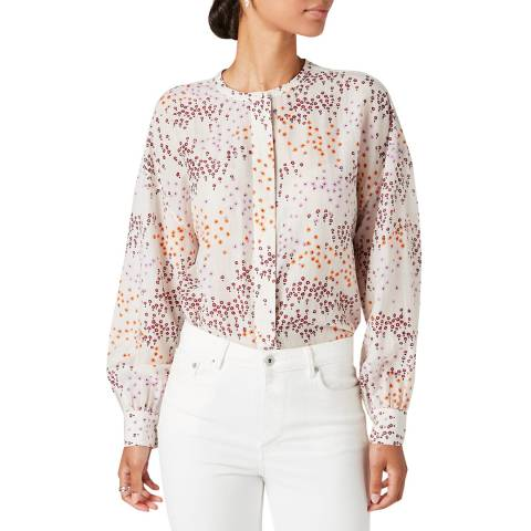 Jigsaw Multi Animal Floral Voile Blouse