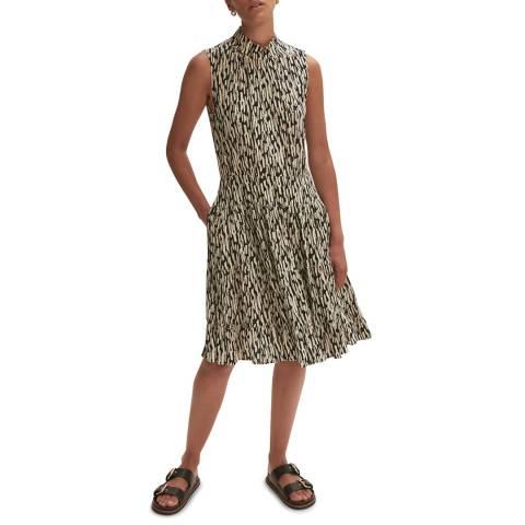 Jigsaw Geometric Print A-Line Dress