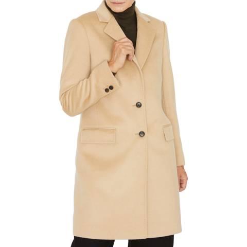 Jigsaw Camel Wool City Coat