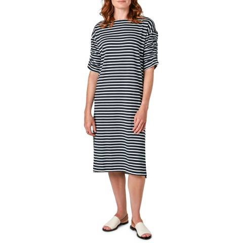 Jigsaw Navy Breton Jersey Dress