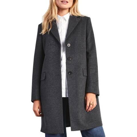 Jigsaw Charcoal Wool Blend City Coat