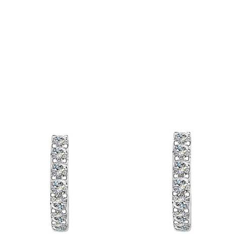 Liv Oliver Silver Cz Huggie Earrings