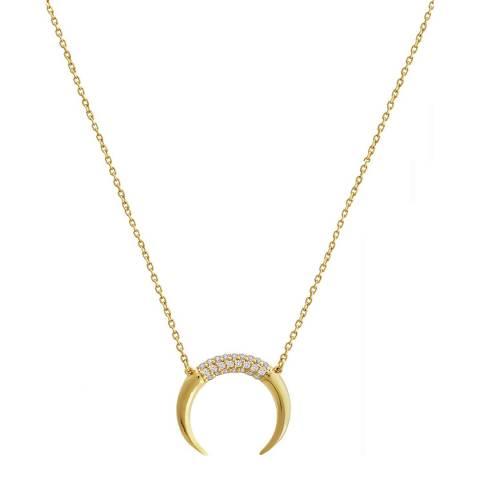 Liv Oliver 18K Gold Plated Top Horn Necklace