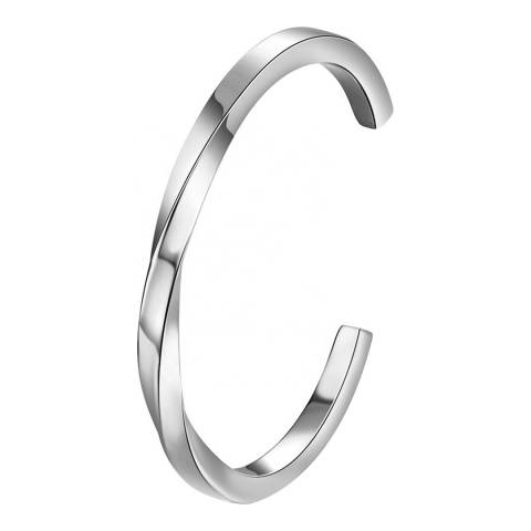 Stephen Oliver Silver Plated Twist Cuff Bangle