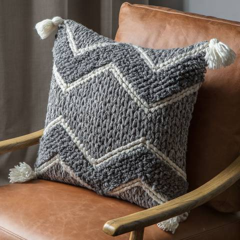 Gallery Habana Cushion, Grey/Cream