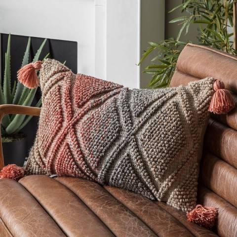 Gallery Ortega Ombre Cushion, Burnt Orange