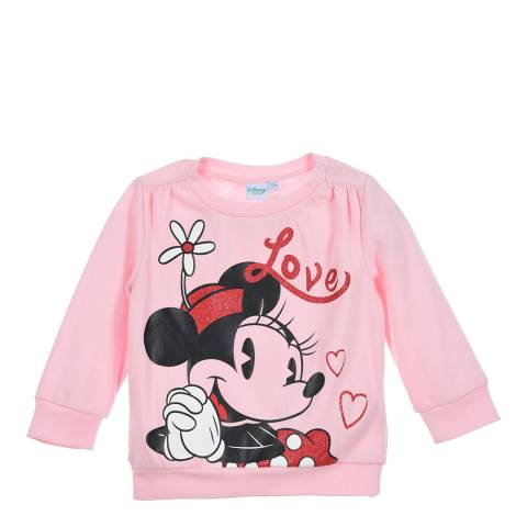 Disney Baby Light Pink Minnie Mouse Graphic Sweatshirt