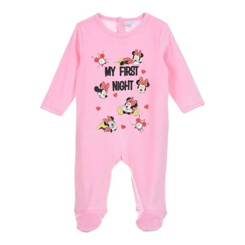 Disney Baby Pink Minnie Mouse Sleepsuit