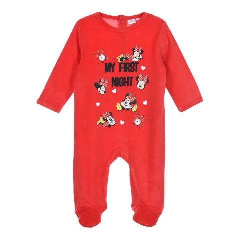 Disney Baby Red Minnie Mouse Sleepsuit