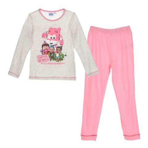 Disney Kid's Beige Super Wings Pyjama Set