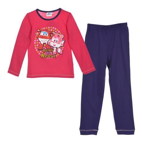 Disney Kid's Fuchsia Super Wings Pyjama Set