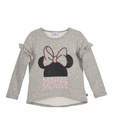 Disney Kid's Light Grey Minnie Mouse T-Shirt