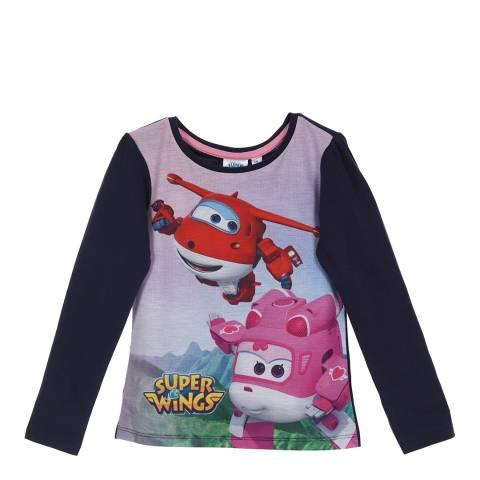 Disney Kid's Navy Super Wings T-Shirt