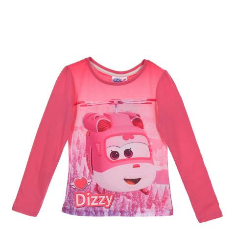 Disney Kid's Pink Super Wings Dizzy T-Shirt