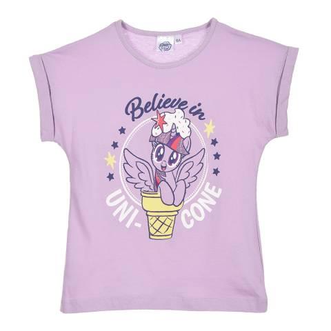 Disney Kid's Purple My Little Pony Believe In Uni-Cone T-Shirt