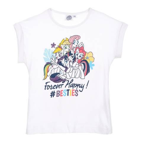 Disney Kid's White My Little Pony Forever Happy T-Shirt