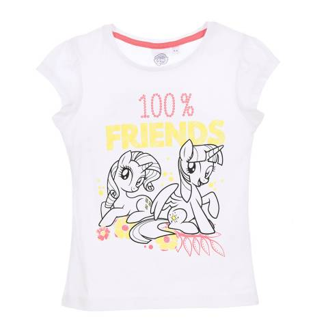 Disney Kid's White My Little Pony 100% Friends T-Shirt