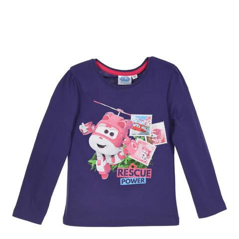 Disney Kid's Purple Super Wings Rescue T-Shirt