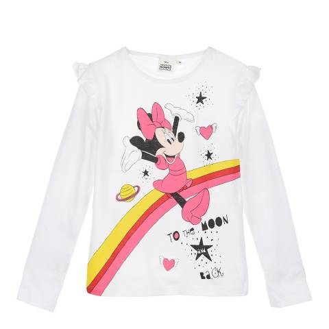 Disney Kid's Off White Minnie Mouse To The Moon T-Shirt