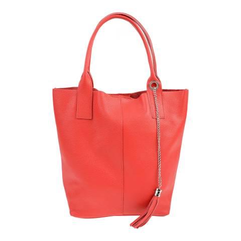 Carla Ferreri Red Leather Shoulder Bag
