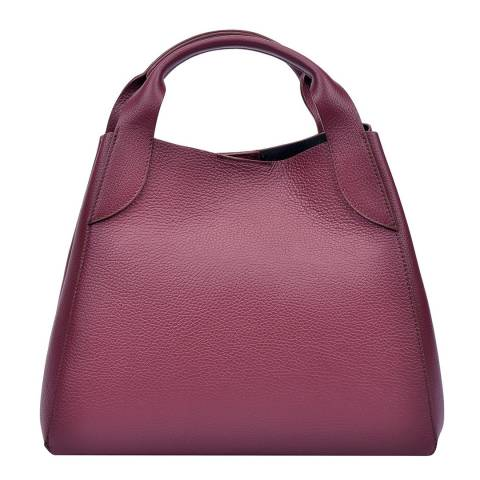 Sofia Cardoni Red Leather Top Handle Bag