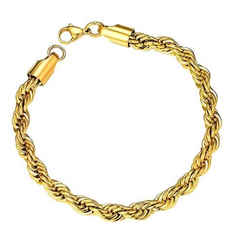 Liv Oliver 18K Gold Plated Twist Bracelet