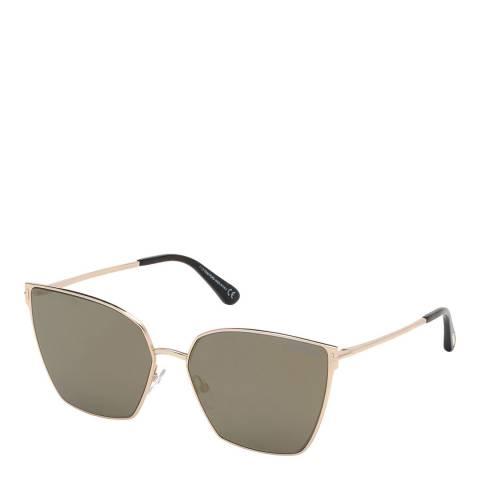 Tom Ford Women's Grey/Gold Tom Ford Sunglasses 59mm