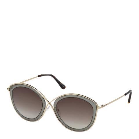 Tom Ford Women's Grey/Gold Tom Ford Sunglasses 55mm