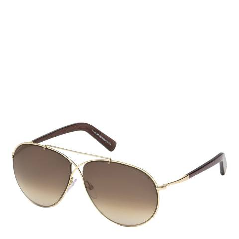 Tom Ford Unisex Grey/Gold Tom Ford Sunglasses 61mm