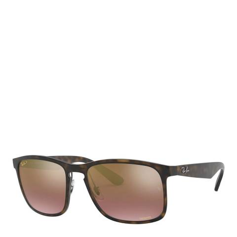 Ray-Ban Unisex Tortoise Chromance Sunglasses 58mm