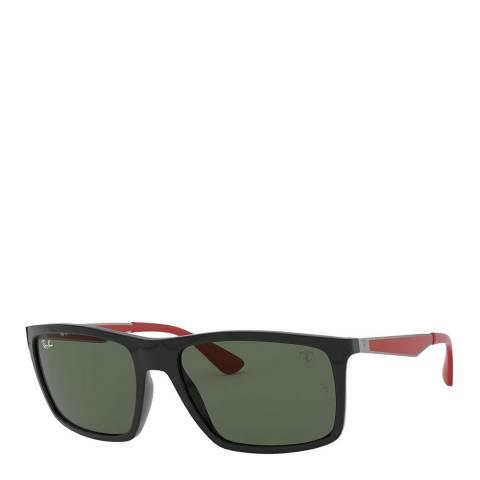 Ray-Ban Unisex Black/Red Scuderia Ferrari Sunglasses 58mm